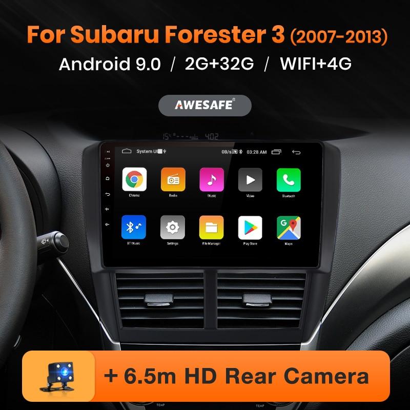 AWESAFE PX9 para Subaru Forester 3 2007-2013 auto Radio Multimedia reproductor de video GPS No 2 din Android 9,0 2GB + 32GB