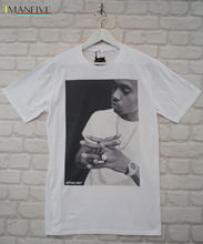 Actual Fact Nas White Hip Hop Rapper Urban Crew Neck Tee T-shirt Great Quality Creative Design Funny Print Tops Men white crew neck french fries print tee