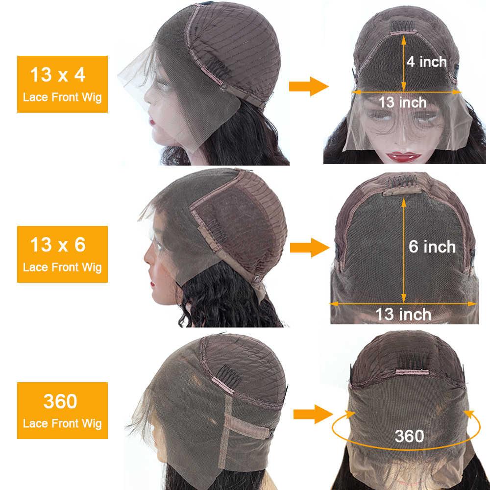 QT 180 Körper Welle Glueless HD Spitze Front Menschliches Haar Perücken 360 Spitze Frontal Perücke Pre Gezupft Mit Baby Haar brasilianische 13X6 Remy Perücke