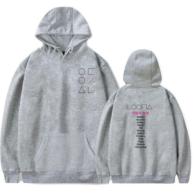 LOONA The Same Style sweatshirt hoodies women men cotton long sleeve sweatshirts hoodie plus size S-4XL Jacket coat kpop clothes 3