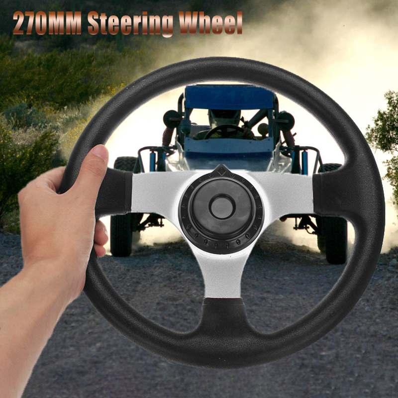 270mm anti-dérapant volant de voiture 3 boulon de fixation tout-terrain projet de construction poignée ergonomique pour Kart électrique Buggy