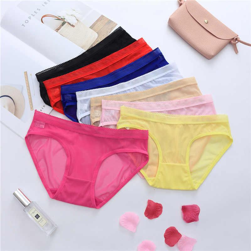 Transparan Pakaian Dalam Wanita Seksi Celana Dalam Wanita Melihat Melalui Pakaian Seamless Low Rise Ultra Tipis Celana Elastisitas Tinggi 45