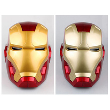 1:1 Iron Man Children/adult size Cosplay Children Mask PVC Figure Toy Electric LED Light Iron Man Helmet Collection Model toys the avengers iron man helmet cosplay touch sensing mask with led light marvel superhero iron man adult motorcycle abs helmet