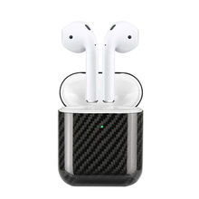 цена на Carbon Fiber LED Earphone Case For Apple AirPods 2 Wireless Case Real Carbon Fiber Protective Cases Cover Earphone Accessories