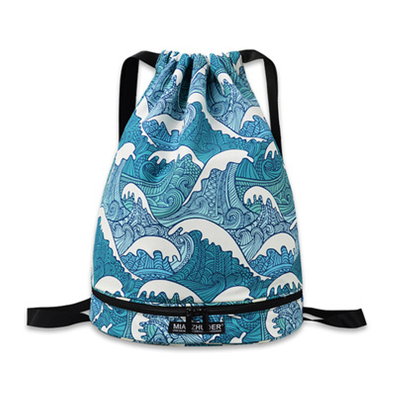 Waterproof Swimming Bag Dry & Wet Separated DrawString Backpack For Men Women Sports Fitness Backpack