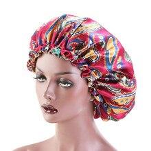 Bonnet-Hat Silky Adjustable Headwrap-Hat Hair-Wrap-Accessories Sleep-Cap Satin Women Beanies