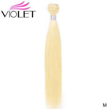 "VIOLET Straight 613 Blonde bundle Brazilian non-remy Human Hair Weave 8""-26\""Inch 613 Honey Hair Extensions Medium Ratio - Category 🛒 Hair Extensions & Wigs"