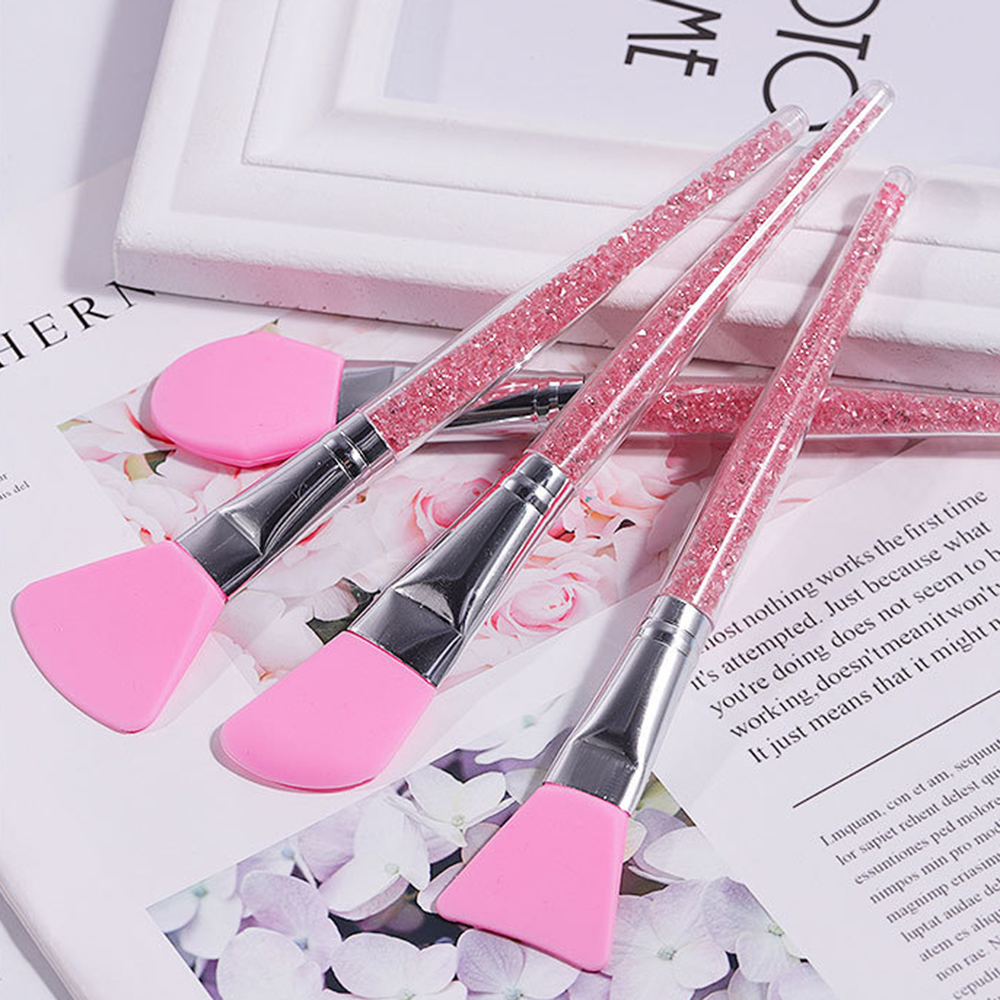 4 Pack New Manicure With Drill Silicone Brush Handle Silicone Mask Brush Soft Film Brush Adjusting Rod DIY Makeup Tools