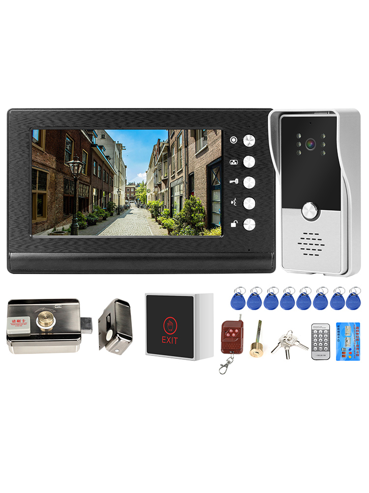 Homefong Door-Phone Lock Video-Intercom Access-Control-System Electric-Lock For Apartment