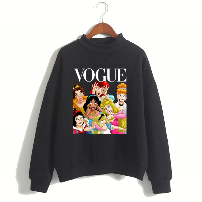 Women Princess Vogue Harajuku Luxury Brand Hoodies Female Social Kpop Hoodies & Sweatshirts Christmas Black Friday Gift