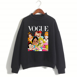 Women Princess Vogue Harajuku Luxury Brand Hoodies Female Social Kpop Hoodies & Sweatshirts Christmas Black Friday Gift(China)