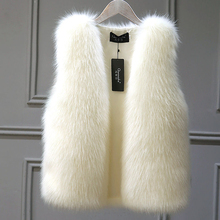 Vest Coat Jacket Female Warm White Winter Gray Black Large-Size New 2XL Fox-Fur