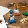 Штамп с деревянной ручкой/Ролик Штамп/печать даты/Офисные принадлежности