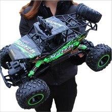 1:12 1:16 سيارة RC 4WD 4x4 2.4G bigfeet نموذج التحكم عن بعد عربات التي تجرها الدواب على الطرق الوعرة الشاحنات تسلق لعب للأولاد سيارات جيب هدية للأطفال