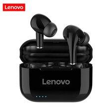 Lenovo lp1s tws fones de ouvido bluetooth 5.0 verdadeiro controle de toque sem fio fone de ouvido esporte in-ear fones de ouvido