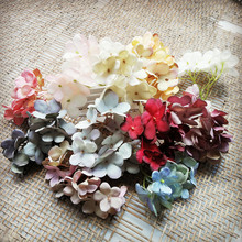 1/5/10 pieces hydrangea for scrapbooking wedding home decoration DIY gift box Christmas wreath home supplies artificial flowers