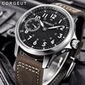 Corgeut Männer Männlichen Militärischen Armee sport Uhr Klassische Luxus 17 Juwelen Seagull 6497 Mechanische Handaufzug leucht Armbanduhr