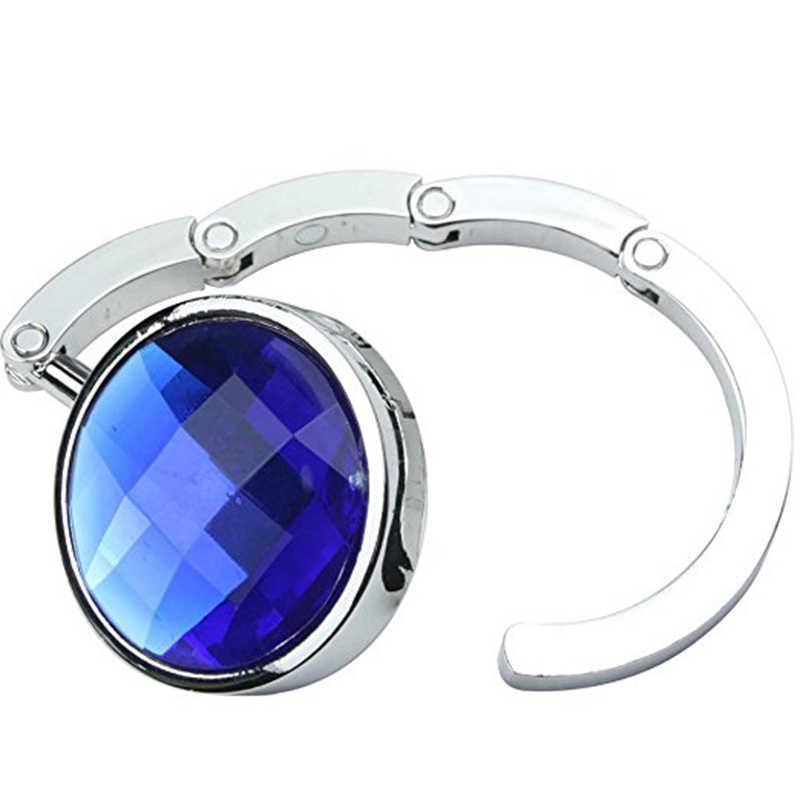 1 Pcs Alloy Crystal Magic Kait Tas Suspensi Portabel Lipat Tas Penyimpanan Rak Dekorasi Rumah Beberapa Meja Gantungan Tas