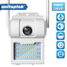 Беспроводная уличная настенная камера 1080P HD с Wi Fi, IP камера с цветным ночным видением и 2 сторонним аудио, Интеллектуальная Индукционная камера для сада