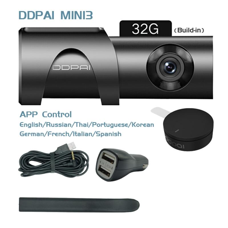 Global Version DDPai Mini3 Dash Cam DVR English Language 32GB 1600P HD Recording Camera 24H Parking Monitor Build in eMMC - 6