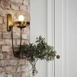 Image 3 - Lámparas de pared de estilo nórdico, candelabro moderno, accesorio de iluminación de pared, luz LED de escalera en forma esférica de vidrio Edison, estilo rústico y moderno