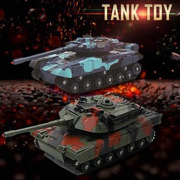 2 uds. Divertidos coches de juguete pequeños de doble batalla coche de Control remoto juguetes de tanque para niños niño