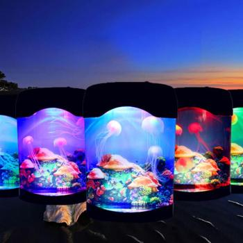 LED Fantasy Jellyfish Lamp Aquarium Led Relaxing Mood Night Light Tank Marine World Table Decoration Lights