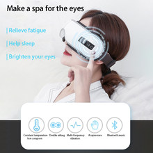 Intelligent Electric Airbag Vibration Hot Compress Bluetooth Music Foldable Portable Eyes Care Therapy Instrument Relief Fatigue(China)