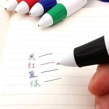 الإبداعية البلاستيك 4 في 1 الملونة قلم حبر جاف متعدد قلم ملون ببلية مدرسة القرطاسية لطيف الكتابة القلم مع حبل معلق هدية