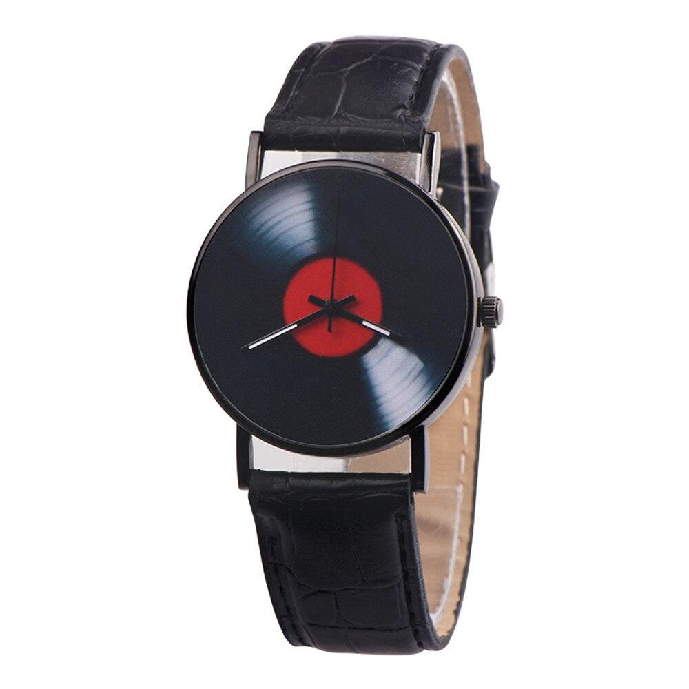 H5305ae18530a44b6910f57371a1a6f2dp 2020 Fasion Men's Watch Neutral Watch Retro Design Brand Analog Vinyl Record Men Women Quartz Alloy Watch Gift Female Clock NEW