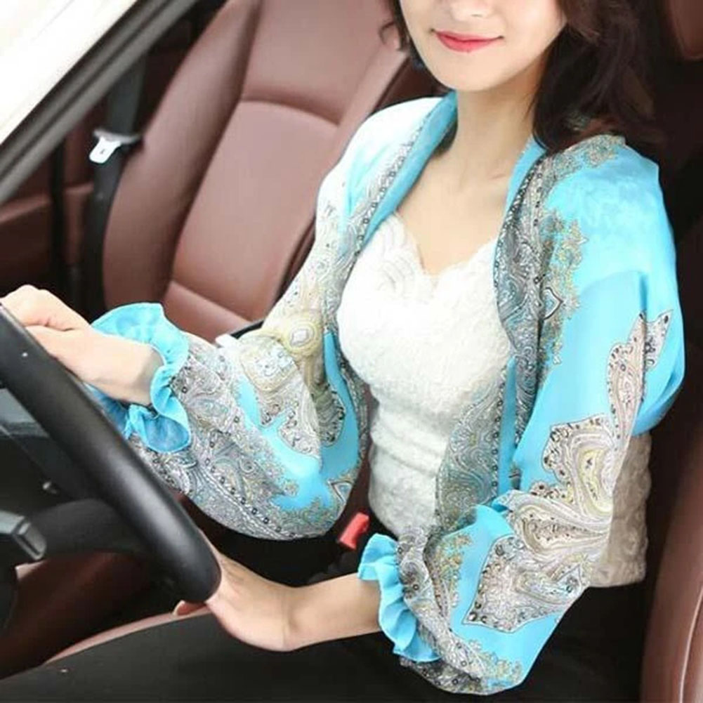 Newly UV-proof Sleeve Shawl Breathable Sunproof Printed Women Sleeve Shawl For Oudtoor Riding Driving DO99