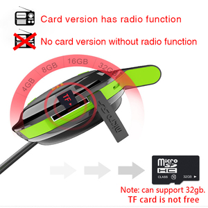 Image 3 - بلوفي سماعة لاسلكية تعمل بالبلوتوث سماعات رياضة راديو مشغل Mp3 سماعة العنق دعم بطاقة الذاكرة