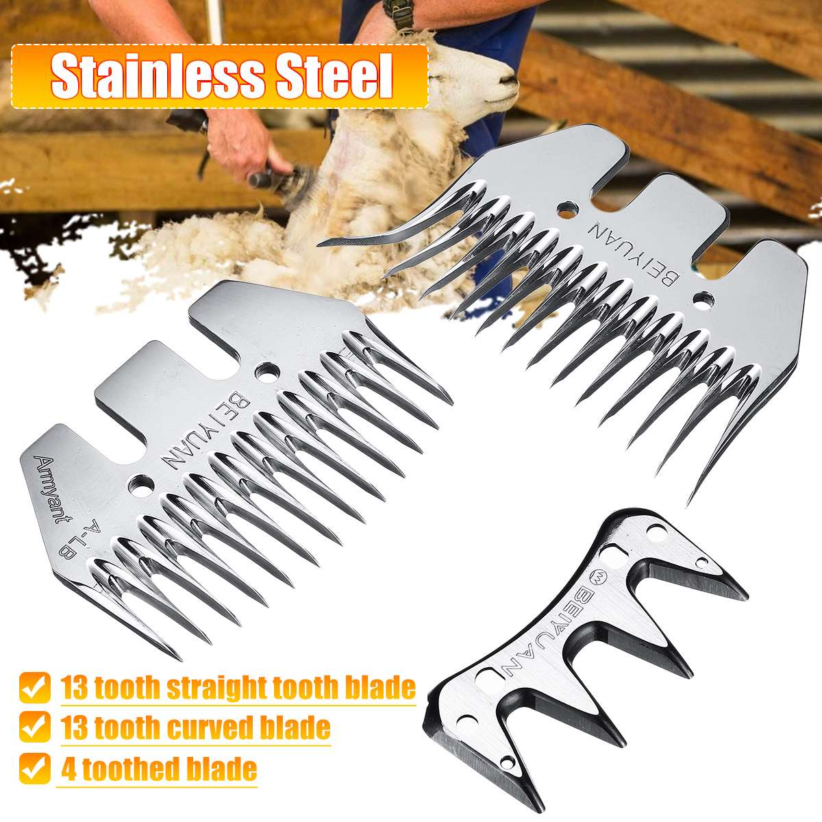 Sheep Goats Shears Convex Comb Cutter Shearing Clipper 4/13 Tooth Blade For Sheep Clipper Shears Scissors