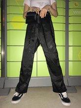 Брюки с вышивкой дракона в китайском стиле женские прямые брюки