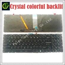 """חדש אנגלית קריסטל RGB תאורה אחורית צבעוני מקלדת עבור MSI GT62 GT72 GE62 GE72 GS60 GS70 GL62 GL72 GP62 GT72S GP72 GL63 GL73 ארה""""ב"""