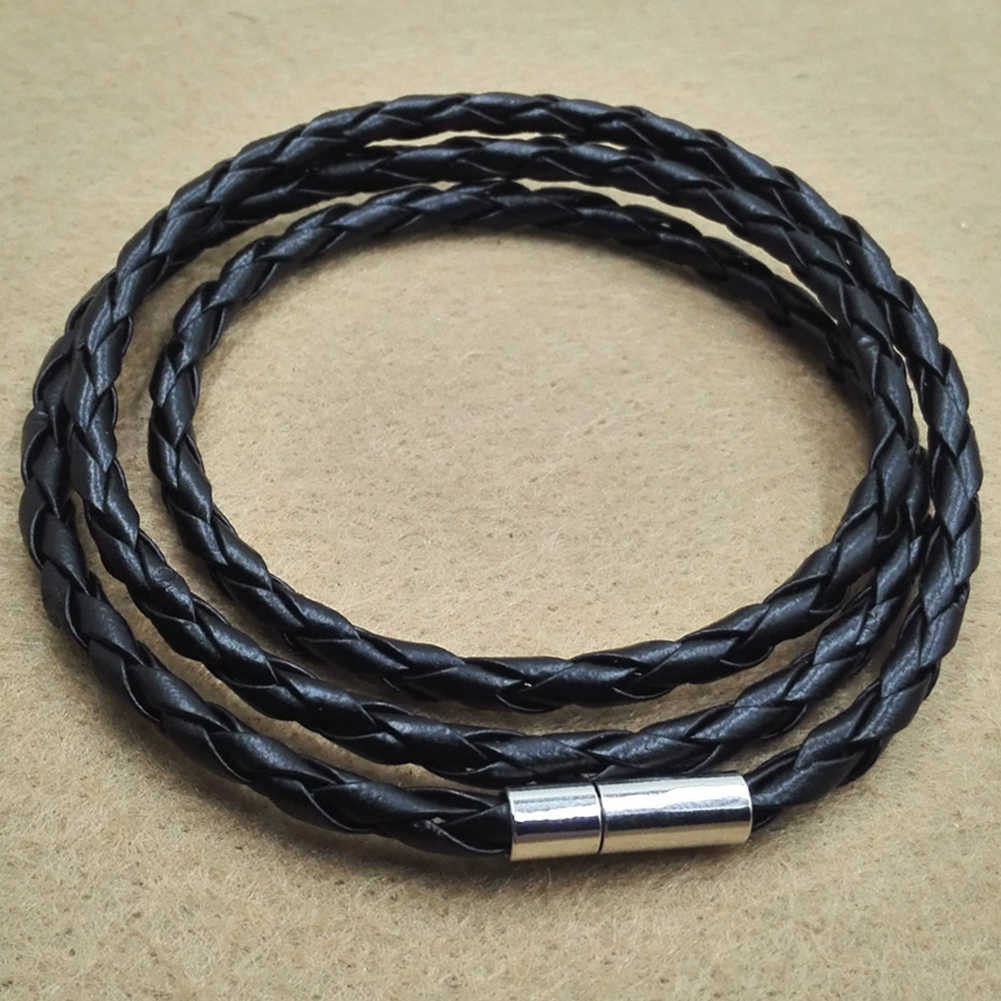 BLUELANS Vintage male female Multilayer Braided Leather Cuff Bangle Bracelet Wristband metal Buckle Bracelets Gift