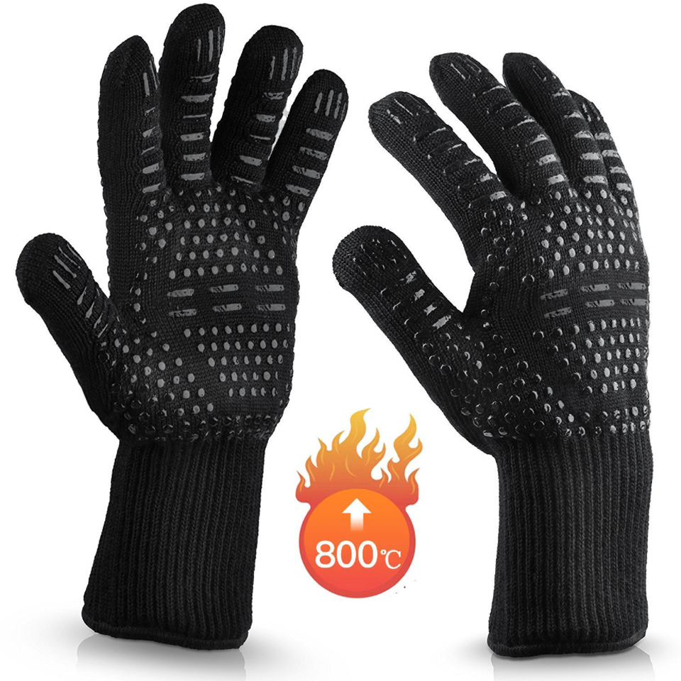 Oven Mitts Microwave Fireproof Barbecue-Heat-Insulation High-Temperature-Resistance 500-800-Degrees
