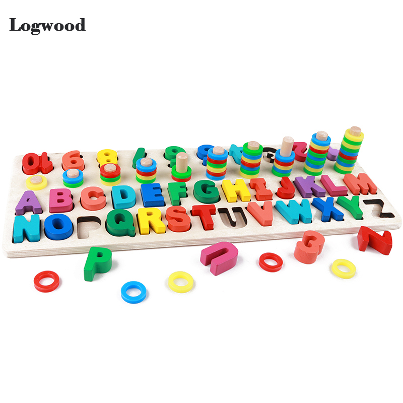 Baby Wooden Toys Montessori Math Toy Counting Digital Letter Cognition Match Jigsaw Educational Toys Wooden Toys For Children