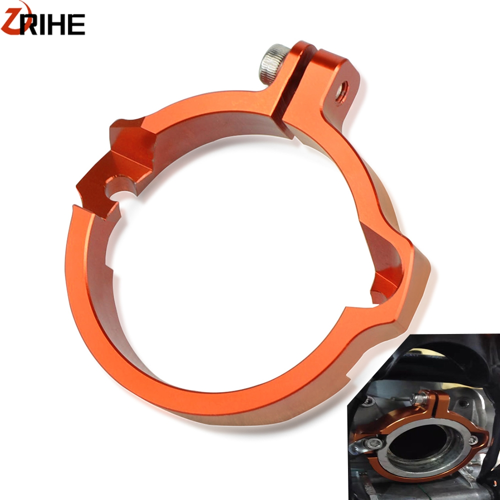 CNC Exhaust Outlet Flange Guard For <font><b>Husqvarna</b></font> 250/<font><b>300</b></font> <font><b>TE</b></font> TC TX 2017-2020 <font><b>2019</b></font> 2018 Exhausts Tip Muffler Pipe Clamp With Flanges image