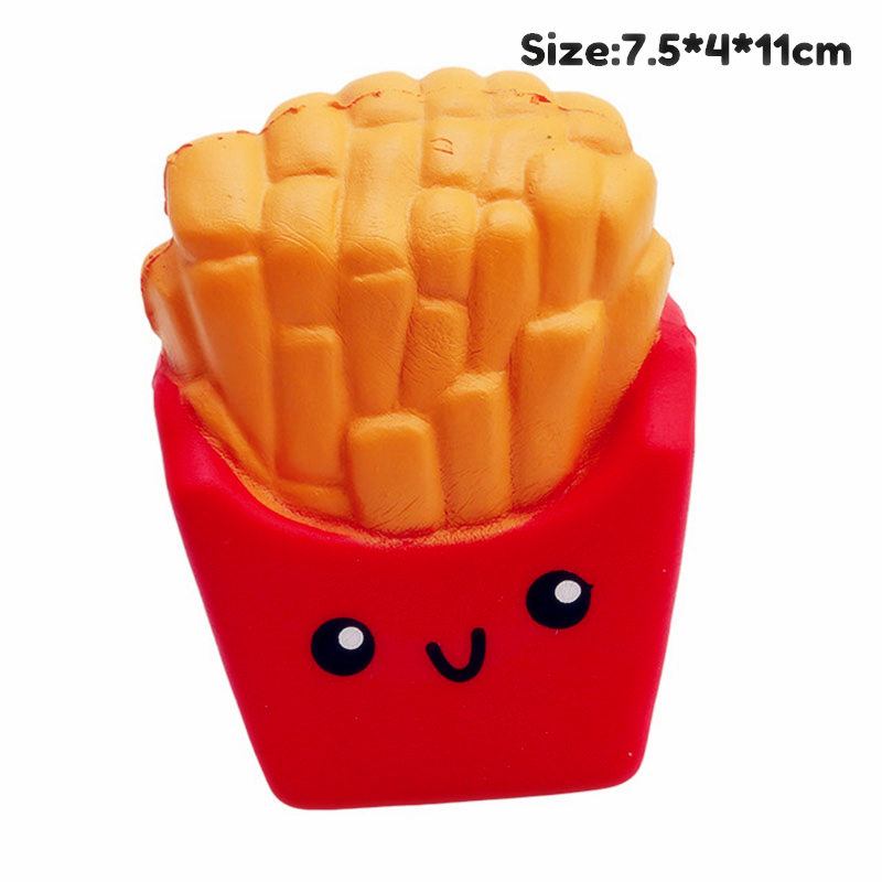Antistress Squishy Toy  French Fries Cake Donut Slow Rising Squeeze PU Simulation Snack Stress Relief Kids Toys Xams Gift