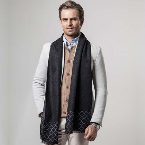 Luxury Men Business Scarf Pashmina Cashmere Warm Scarf Shawl Scarve Men Scarves