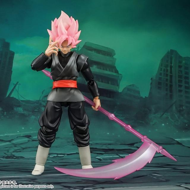 Tronzo Demoniacal Fit Dragon Ball Super Goku Black SHF SSJ Rose Zamasu The Chosen Ones Movable PVC Action Figure Model Toys