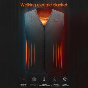 Image 5 - Zewnętrzna kurtka ocieplana kamizelka grzewcza odzież górska USB ładowanie inteligentna elektryczna podgrzewana kamizelka ogrzewanie ubrania zatapialne