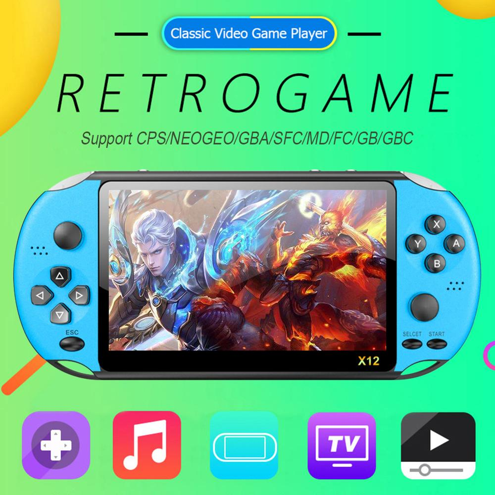 lowest price X12 5 1 inch Handheld Game Video Player 8G LED Screen Built-in 2500 Games X12PLUS Retro Consoles Support TF Card