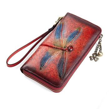 Embossing Genuine Leather Wallet