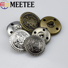 50Pcs Retro Metal Button Antique Brass Copper Jeans Coat Jacket Clothes Decorative Buckle Sewing