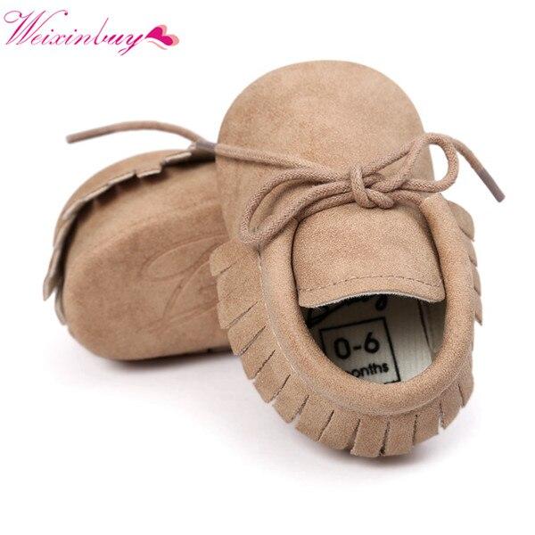 Printemps bébé chaussures en cuir PU filles chaussures pour filles bébé chaussons bébé mocassins mode frange premières promenades 0-18M 10 couleurs