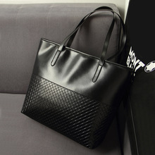 Classic Retro PU Leather Women Tote Bag