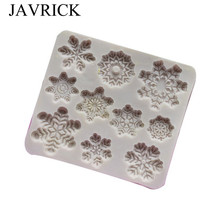Christmas Snow Flowers Silicone Mold Fondant Chocolate Cake Decoration Tools Gumpaste Molds
