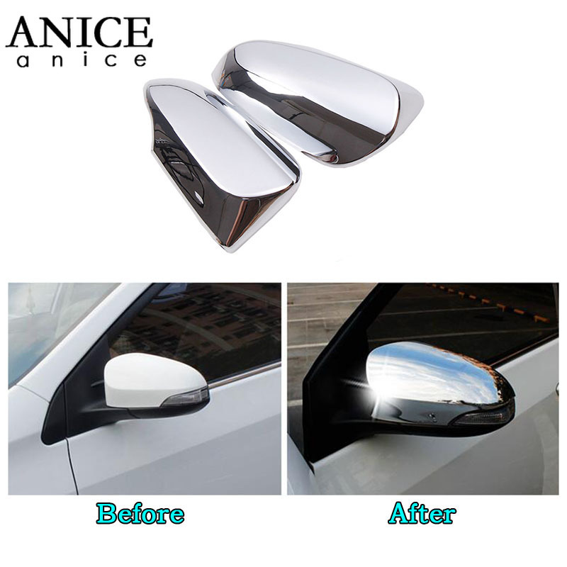 GUAGANJING 2PCS Carbon Fiber//Chrome Rearview Mirrors Cover Cup,for Toyota Avalon Venza Corolla C HR CHR Auris Yaris